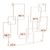 Настінна полиця-підсвічник у стилі LOFT (Lamp-48)