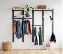 Навісна вішалка-стелаж для одягу в стилі LOFT (Hanger - 02)