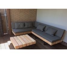 Садовая лаунж лавочка в стиле LOFT (Street Bench - 38)