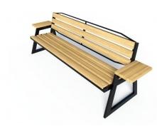 Лавочка парковая в стиле LOFT (Street Bench - 15)