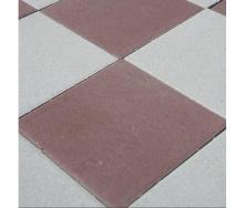 Тротуарная плитка Золотой Мандарин Плита 400х400х60 мм на сером цементе коричневый