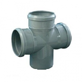 Крестовина канализационная 110х110х110 мм 90°