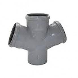 Крестовина канализационная 110х110х110 мм 45°