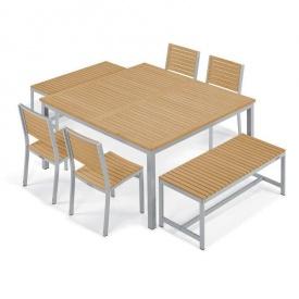Набір стіл + 2 лавки і 4 крісла в стилі LOFT (Garden Table - 05)