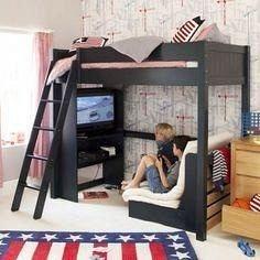 Двухьярусная ліжко в стилі LOFT (Bed-024)