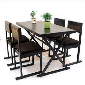 Стол + 4 кресла в стиле LOFT (Table - 246)