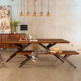 Стол с лавочкой в стиле LOFT (Table-277)