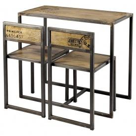 Барний комплект стіл + 2 стільці в стилі LOFT (Bar Table-18)