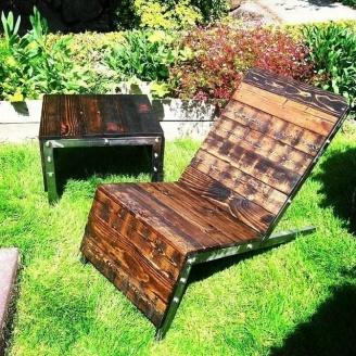 Шезлонг в стилі LOFT (Deck chair - 06)