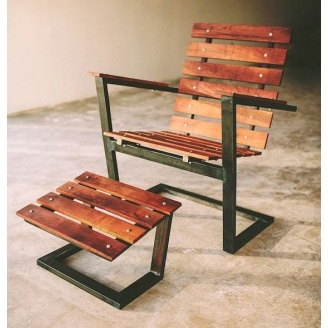 Пляжний шезлонг в стилі LOFT (Deck chair-02)