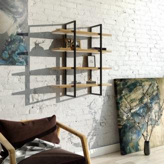 Навісна полиця в стилі LOFT (Wall Shelf-14)