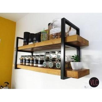 Навісна полиця в стилі LOFT (Wall Shelf-20)