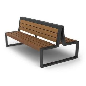 Скамейка парковая двойная в стиле LOFT (Street Bench - 12)