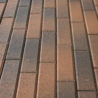 Тротуарная плитка Золотой Мандарин Кирпич узкий 210х70х60 мм латина