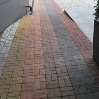 Тротуарная плитка Золотой Мандарин Кирпич стандартный 200х100х40 мм на сером цементе коричневый