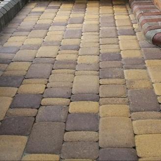 Тротуарная плитка Золотой Мандарин Старый город 120х60 мм генуя