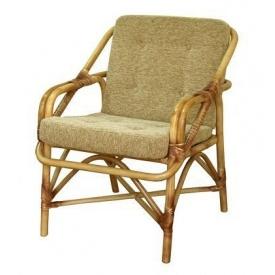 Плетенное кресло для отдыха-№1 из ротанга ЧФЛИ 680х730х910 мм светло-бежевый