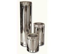 Труба 0,5м ф125 / 200 н / н для двухстенного дымохода из нержавейки