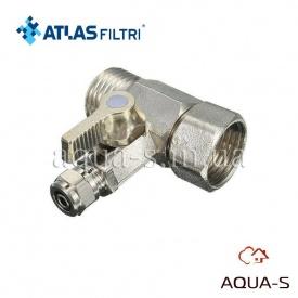 """Кран-тройник Atlas Filtri для подачи воды на колбы фильтров DN 1/2"""" RE7402001"""