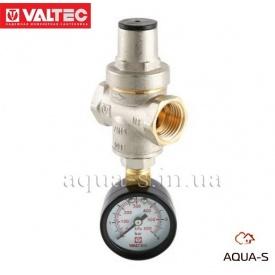 """Редуктор тиску VALTEC поршневий з манометром 1/2"""" VT.088.N"""