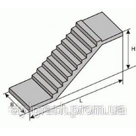 Лестничный марш 1ЛМ30.11.15-4 железобетонный 3030х1050х1500 мм