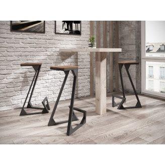 Барний стілець Метал-Дизайн Зетт 450х450х740 мм