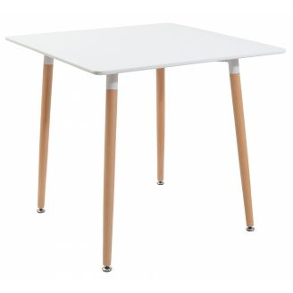 Квадратний стіл Richman Ксав`єр 800х800х730 мм мдф-білий