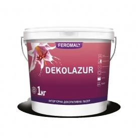 Лазурь интерьерная декоративная FEROMAL DEKOLAZUR глянцевая акриловая дисперсия 10 л