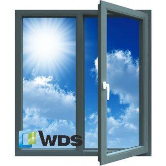 Окно металлопластиковое WDS 6S 130x140 см R0.75