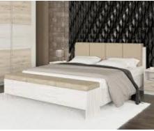 Ліжко Меблі-Сервіс Кім 208х168х98 см сан ремо/білий