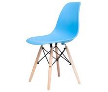 Стул Richman Жаклин пластиковый Голубой с деревянными ногами