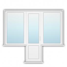 Балконний блок чебурашка Rehau 70 900х1400х800 з енергозбереженням
