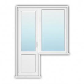 Балконний блок з глухарем Rehau Synego 900х1400, 700х2150 з енергозбереженням