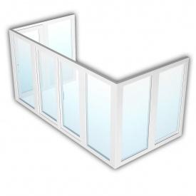 Балкон Rehau 70 1500х5400 мм з енергозбереженням