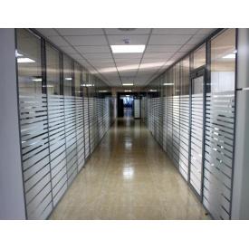 Алюминиевая офисная перегородка 4х10 мм
