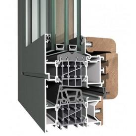 Алюмінієве вікно з дерев'яною накладкою алюмодерево Sensity - Reynaers Aluminium