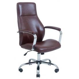 Офисное кресло Richman Альваро 1250-1170х530х540 мм Хром М-2 кожзам коричневый