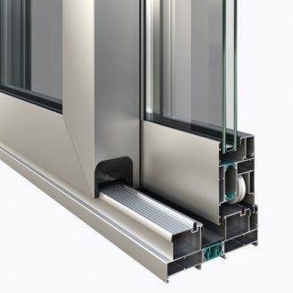 Теплі алюмінієві розсувні двері AltestLS70 HS портал