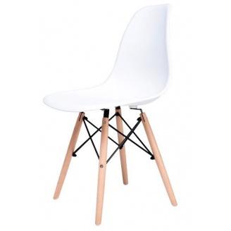 Стул Жаклин Richman 830х460х400 мм пластиковый Белый с деревянными ногами