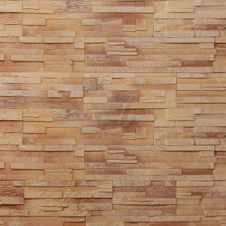 Плитка гипсовая прямая Rustika Верона золотистая 335x90|165x90 мм