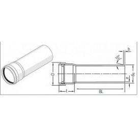 Труба каналізаційна RAUPIANO PLUS 125, довжина 1000 мм