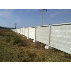 Забор бетонный ЗП 400-8