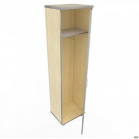 Шкаф М 10 АртМобил 550х425х2060 мм клен/кромка серый металлик