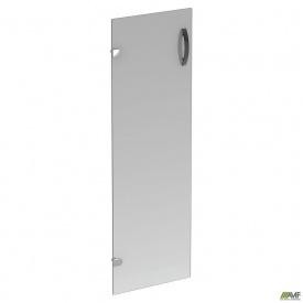 Дверца 3-х секционная стеклянная R-84 390х4х1150 мм