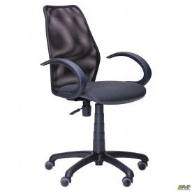 Крісло Oxi/АМФ-5 сидіння Поінт-02/Сітка чорна спинка
