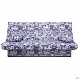 Диван-кровать Ньюс механизм клик-кляк City gray с двумя подушками
