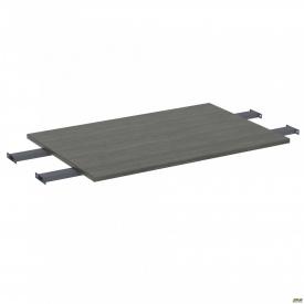 Стол сегмент с удлиненными перемычками SIG-109 (1187х800х25мм) Черный графит 60х30мм Морское дерево
