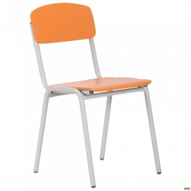 Стул Ученический №4 серый RAL 7035 апельсин