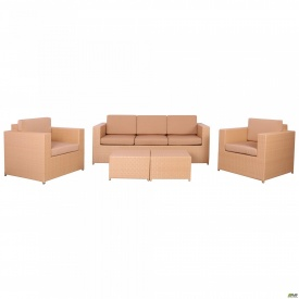 Комплект мебели Santo из ротанга Elit SC-B 9508 Sand AM 3041 ткань A 14203