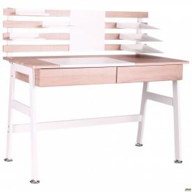 Комп'ютерний стіл Shevchenko білий/світлий горіх